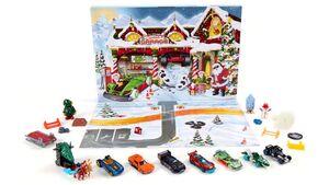 Mattel - Hot-Wheels-Adventskalender mit Überraschungen für 24 Tage, Fahrzeugen und Zubehör