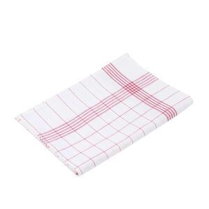XXXLutz Geschirrtuch-set 10-teilig , 60029-37-5070 10Tlg , Rot, Weiß , Textil , 50x70 cm , Webstoff , saugfähig , 004118036001