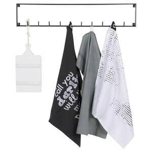 Ambia Home Hakenleiste schwarz , Meert   -Ambia Home- , Metall , 82.8x16x3.5 cm , lackiert , Aufhängemöglichkeit , 001883005103