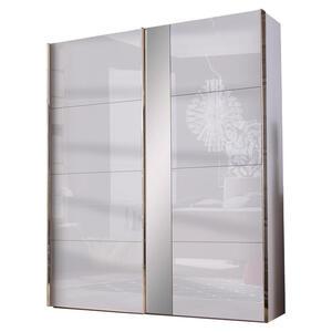 Hom`in Schwebetürenschrank 2-türig grau, weiß , Matrix M   -Hom In- , Holzwerkstoff , 200x216x68 cm , Nachbildung , umfangreiches Zubehör erhältlich, in verschiedenen Größen erhältlich, in ve