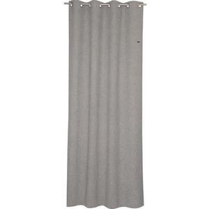 Esprit ÖSENSCHAL blickdicht 140/250 cm , E-Harp , Hellgrau , Textil , Uni , 140x250 cm , 003021046401