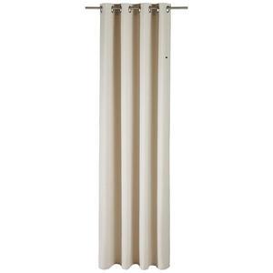 Esprit ÖSENSCHAL blickdicht 140/250 cm , E-Harp , Naturfarben , Textil , Uni , 140x250 cm , 003021046403