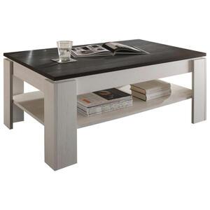 Carryhome Couchtisch rechteckig weiß, pinienfarben , Universal , Holzwerkstoff , 65x47x110 cm , Nachbildung , 001418008607