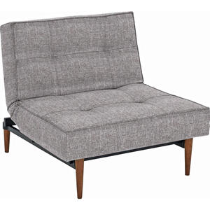 Innovation SESSEL Webstoff Grau , Splitback , Textil , 90x79x115 cm , Webstoff , Stoffauswahl , 001658000707