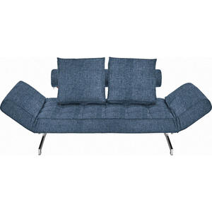 Innovation Schlafsofa blau , Ghia 551 , Textil , 2-Sitzer , 210x68x90 cm , verchromt , Stoffauswahl, Liegefunktion , 001658000304