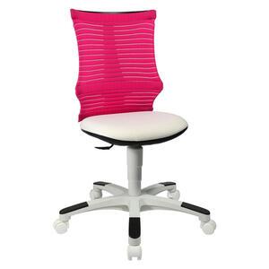 Ben'n'jen Jugenddrehstuhl rosa, weiß , S'neaker _ Kunststoff, Textil , 45x85-98x39 cm , matt , 001319001803