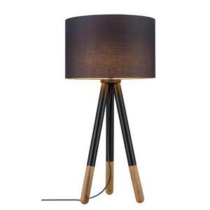 XXXLutz Tischleuchte , 79635 Rurik *mb* , Grau , Holz, Metall, Textil , 70 cm , 003656092202