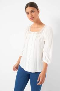 Bluse mit Karree-Ausschnitt