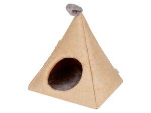 ZOOFARI® Katzenhöhle, mit herausnehmbarem Kissen, gepolsterte Wände, Außenseite aus Jute