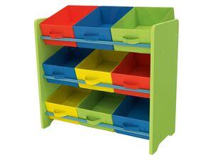 LIVARNO LIVING® Aufbewahrungsregal für Kinderspielzeug, mit Textilboxen