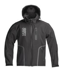 Wind- und wasserdichte Softshell Jacken, Farbe schwarz/ grau