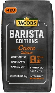 Jacobs Barista Editions Kaffee Crema Intense ganze Bohne 1KG
