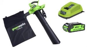 Greenworks Akku-Laubsauger/-bläser 40 V ,  inkl. 2 Ah Akku und Ladegerät