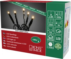 "Konstsmide Microlichterkette ""100 LED, bernstein"""
