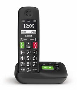 E290A Schnurlostelefon mit Anrufbeantworter schwarz