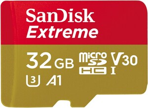 microSDHC Extreme 32GB + Adapter Speicherkarte