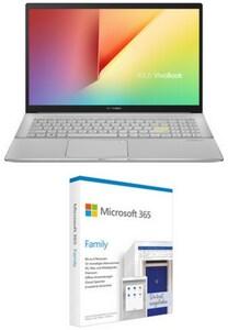 "VivoBook S15 S533FA-BQ009T 39,62 cm (15,6"") Notebook dreamy white inkl. 365 Family FPP"