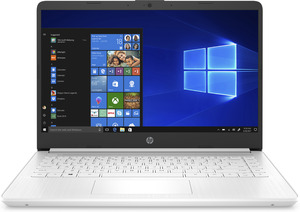 HP 14s-dq1301ng, Notebook mit 14 Zoll Display, Core™ i5 Prozessor, 8 GB RAM, 512 GB SSD, Intel® UHD-Grafik , Weiß