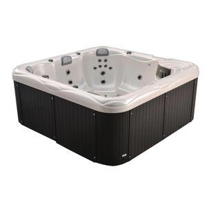 XXXLutz Whirlpool siena 5+1 personen weiß, dunkelgrau , Siena 5+1 Personen , Kunststoff , 228x90x228 cm , glänzend , 0050010032