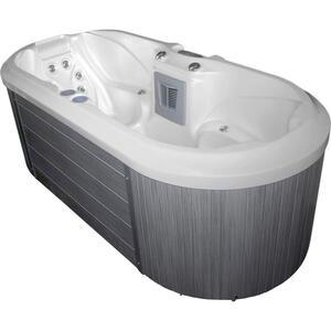 XXXLutz Whirlpool como ec2000 braun, weiß , Como Ec2000 , Kunststoff , 100x78x225 cm , glänzend , 0050010005