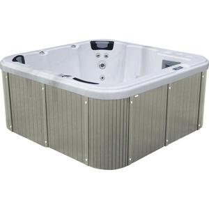 XXXLutz Whirlpool rivoli grau, weiß , Rivoli , Holz, Kunststoff , 200x92x200 cm , 0050010002