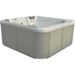 XXXLutz Whirlpool capri grau, weiß , Capri , Holz, Kunststoff , 216x92x216 cm , 0050010001