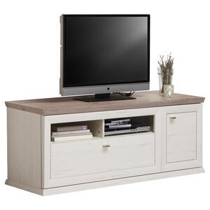 Hom`in Tv-element grau, weiß , Camron   -Hom In- , Metall , 1 Schubladen , 150.2x53.9x50 cm , Melamin,Nachbildung,Nachbildung , 000003000119