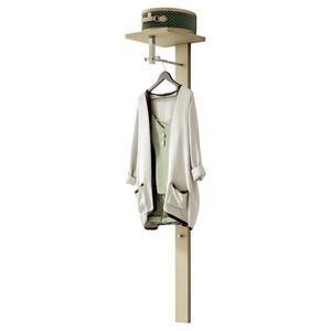 Moderano Garderobenpaneel matt, lackiert taupe , Lecco , 33x167x31 cm , matt, lackiert , 000828003213