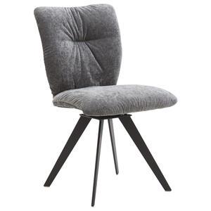 Voleo Stuhl webstoff grau, schwarz , Derby , Metall , 52x88x63 cm , lackiert,Webstoff , Gestellauswahl , 001475017608