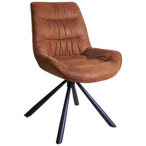 Hom`in Stuhl struktur braun, schwarz , Heiko    -Hom In- , Metall , 57.50x85x64 cm , pulverbeschichtet,Struktur , Sitzfläche 360° drehbar , 001971008402