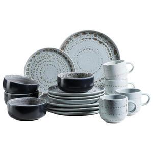 XXXLutz Steingut kombiservice 16-teilig , 16-Tlg. SET Spicy Market , Grau , Keramik , 350 ml , 54.3x26.1x32.6 cm , 003175017903