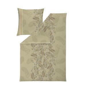 Estella Bettwäsche interlock-jersey grün 135/200 cm , 6519001-280 (Atelier) , Textil , Paisley , 135x200 cm , Interlock-Jersey , bügelfrei, pflegeleicht, hautfreundlich, schadstoffgeprüft , 00414