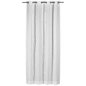 Joop! ÖSENSCHAL transparent 140/250 cm , J-Jona-Allover , Weiß , Textil , Uni , 140x250 cm , für Stange und Schiene geeignet , 003021061701