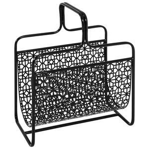 XXXLutz Zeitungsständer metall schwarz , Anni , 37x45x22 cm , lackiert , Tragegriffe , 001931059702