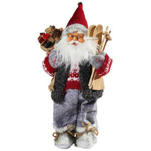 X-Mas Weihnachtsmann multicolor , 01253 , Holz, Metall, Kunststoff , Weihnachten , 9x30x15.5 cm , stehend, zum Stellen , 006287128001
