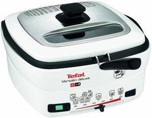 Tefal Fritteuse deLuxe FR4950 mit Pfannenwender, 1600 W, Fassungsvermögen 2 l, Innenbehälter herausnehmbar und antihaftbeschichtet
