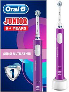 Oral B Elektrische Zahnbürste Junior Purple, Aufsteckbürsten: 1 St.