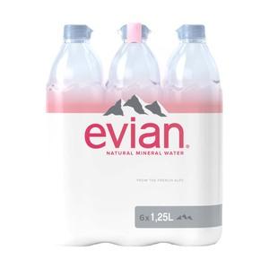 Evian Premium 6 x 1,25 Liter,   jeder Kasten/ jede Packung (+ 3,10/ 1,50 Pfand)