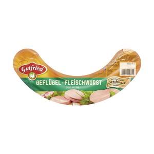 Gutfried Saftige Geflügel-Fleischwurst mit oder ohne Knoblauch, jede 400-g-SB-Packung