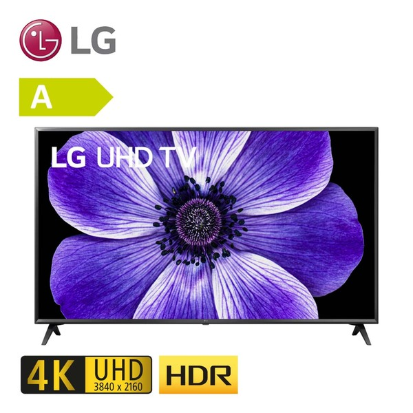 65UN71006LB • TV-Aufnahme über USB • 3 x HDMI, 2 x USB, CI+ • integr. Kabel-, Satund DVB-T2-Receiver • Maße: H 85,4 x B 146,8 x T 9 cm • Energie-Effizienz A (Spektrum A+++ bis D) • Bild