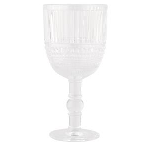 Weinglas in strukturierter Optik