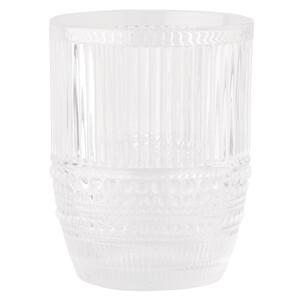 Kleines Wasserglas in strukturierter Optik