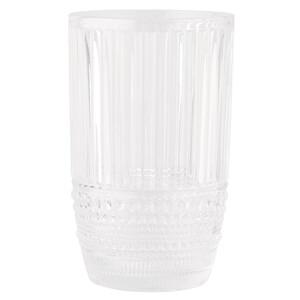 Großes Wasserglas mit strukturierter Optik