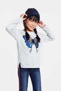 Shirt Schmetterling Wendepailletten