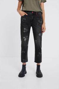 Boyfriend-Jeans Micky Maus