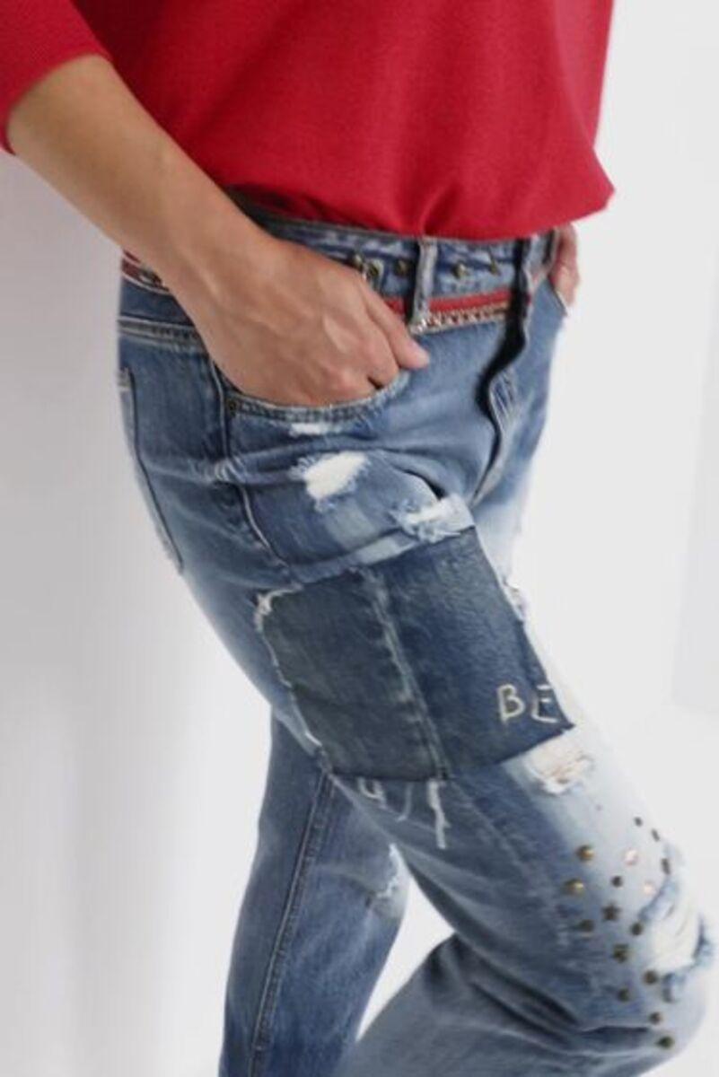 Bild 2 von Boyfriend-Jeans Nieten