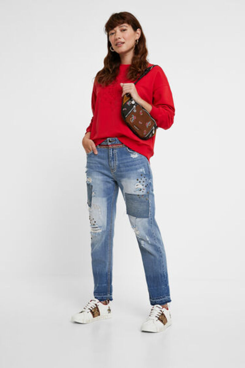 Bild 3 von Boyfriend-Jeans Nieten