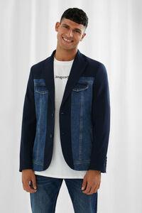 Blazer aus Jeans und Blazerstoff
