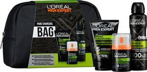 L'ORÉAL PARIS MEN EXPERT Geschenk-Set »Pure Charcoal Bag«, 4-tlg.