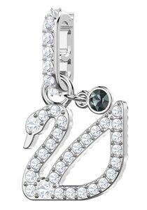 Swarovski Charm-Einhänger »Swarovski Remix Collection Swan, 5443940«, mit Swarovski® Kristallen